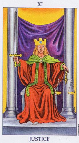 11 Sprawiedliwosc Arkana Wielkie Wrozby I Tarot Kartylosu Pl